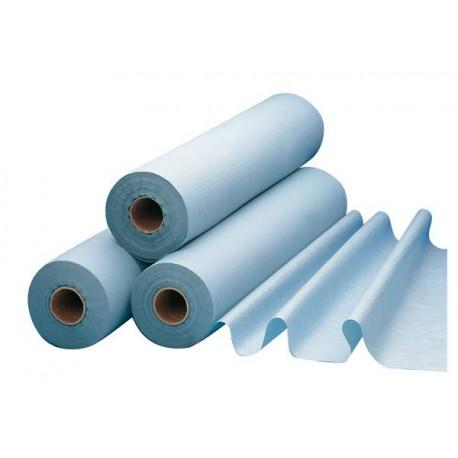 Draps d'examen plastifiés bleus 50x38 x 6 Rlx