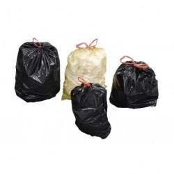 Sacs poubelle à liens coulissants
