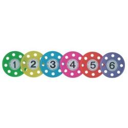 Anneaux lestés perforés set de 6 anneaux