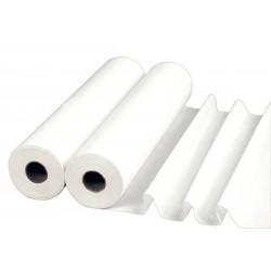 Draps d'examen plastifiés blancs 50x38 x 6 Rlx