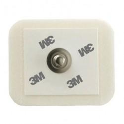 Electrodes 3M Red Dot - gel adhésif conducteur - Mousse radiotransparente 4 x 3,25 cm x 1000