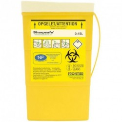 Collecteur de déchets infectieux SHARPSAFE 450 mL