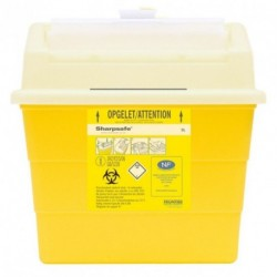 Collecteur de déchets infectieux SHARPSAFE 9 L