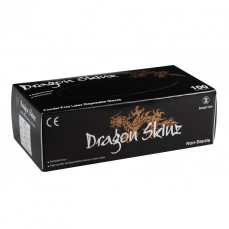 Gants latex sans poudre Noirs DRAGON SKINZ x 100