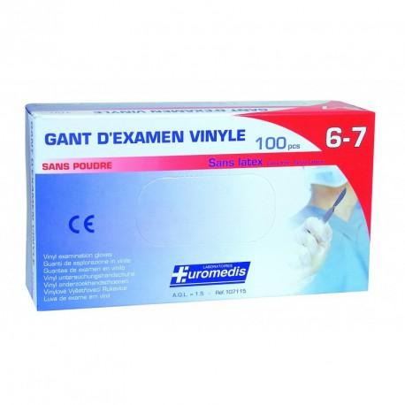 Gants vinyles non poudrés EUROMEDIS x 100