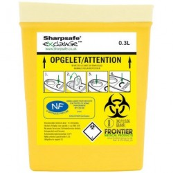 Collecteur de déchets infectieux SHARPSAFE 300 mL