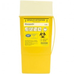 Collecteur de déchets infectieux SHARPSAFE 600 ml