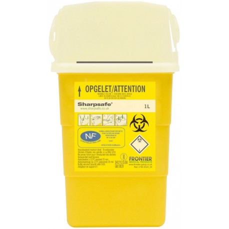 Collecteur de déchets infectieux SHARPSAFE 1 L