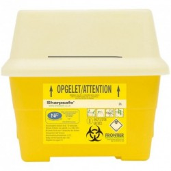 Collecteur de déchets infectieux SHARPSAFE 2 L