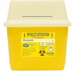 Collecteur de déchets infectieux SHARPSAFE 3 L
