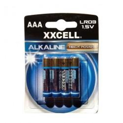 Piles Alcaline XXCELL LR3 1,5 V x 4