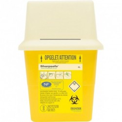 Collecteur de déchets infectieux SHARPSAFE 4 L