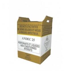 Cartons de récupération de déchets 25 L (24x24x46 cm) x 10