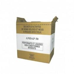 Cartons de récupération de déchets 50 L (FORME BASSE) x 10