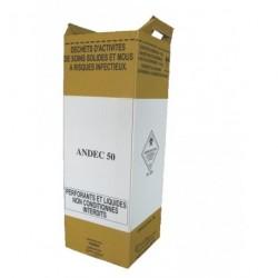 Cartons de récupération de déchets 50 L (FORME HAUTE) x 10