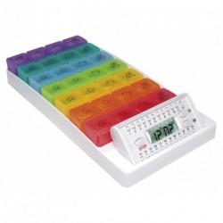 Pilulier électronique Arc en Ciel, 7 jours/couleurs 4 compartiments