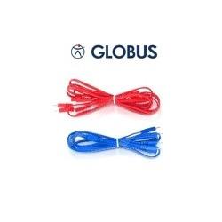 Câbles bipolaires GLOBUS bleu connectique ronde