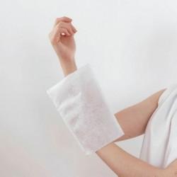 Gant de toilette molletonné blanc