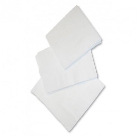 Serviettes blanches 33x33 cm 2 plis x 2400