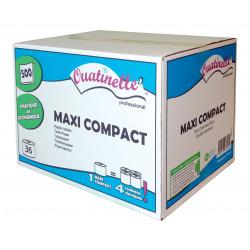 Papier toilette compact 2 plis blanc x 36 rouleaux