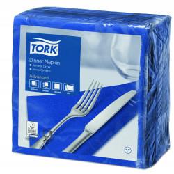 Serviettes bleues Océan TORK 2 plis 40x40 cm X 2000