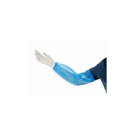 Manchettes Polyéthylène bleu 20 x 40 cm x100