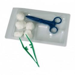 Set de soins 1 pince anatomique + 1 pince kocher x 48