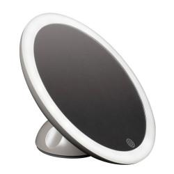Miroir sans fil à ventouse détachable à LED