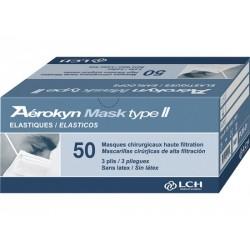 Masques élastiques bleus AEROKYN adulte x 50