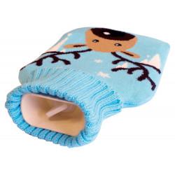 Bouillotte avec housse tricotée